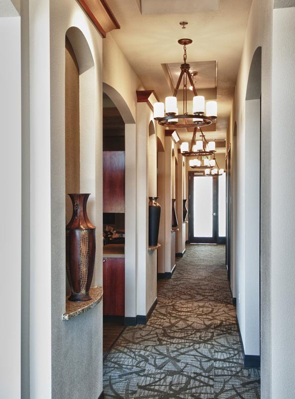 Image of the main hallway at HighPointe Dental in Thornton, CO.