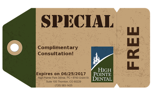 Coupon: Complimentary Consultation! FREE - High Pointe Dental, Thornton, CO